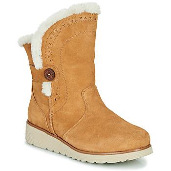 Shoes Women Mid boots Skechers KEEPSAKES WEDGE Camel