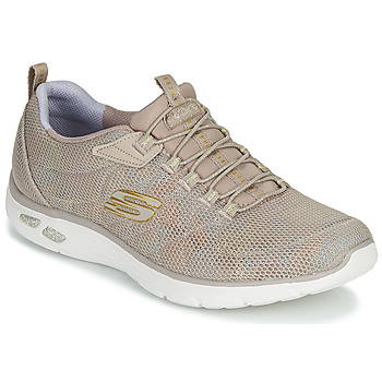 Shoes Women Low top trainers Skechers EMPIRE D'LUX CHARMING GRACE Nude