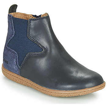 Shoes Girl Mid boots Kickers VERMILLON Marine