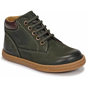 Shoes Boy Mid boots Kickers TACKLAND Kaki