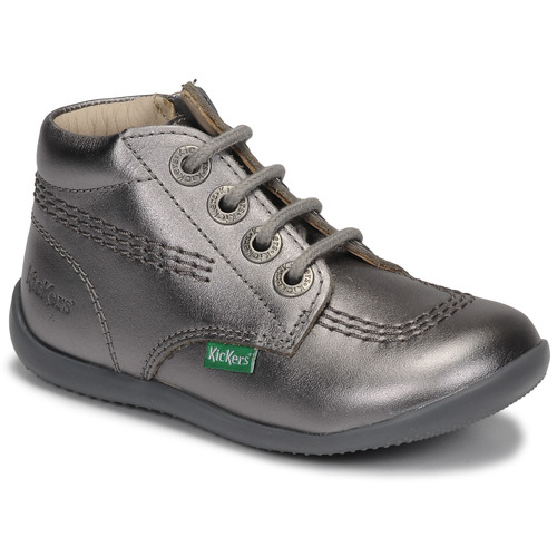 Shoes Girl Mid boots Kickers BILLYZIP-2 Silver