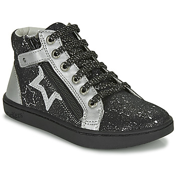 Shoes Girl Hi top trainers Kickers LILUSTAR Black / Silver