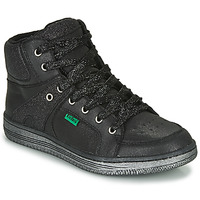Shoes Girl Hi top trainers Kickers LOWELL Black