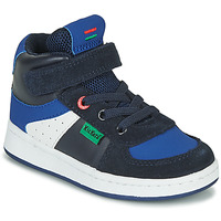 Shoes Boy Hi top trainers Kickers BILBON MID Marine
