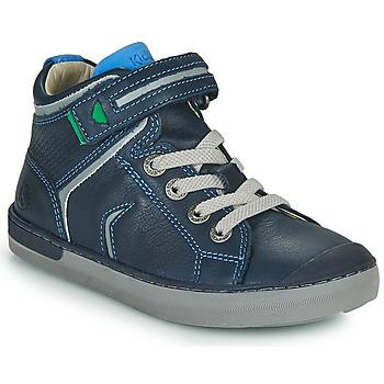 Shoes Boy Hi top trainers Kickers IRELAS Marine / Blue