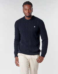 Clothing Men Jumpers Timberland LAMBWOOL CABLE Marine
