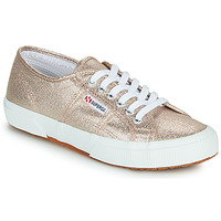 Shoes Women Low top trainers Superga 2750 LAMEW Pink
