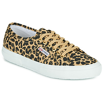 Shoes Women Low top trainers Superga 2750 FANTASY COTU Leopard / Brown