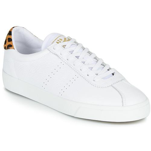 Shoes Women Low top trainers Superga 2843-COMFLEALEOPARDU White / Leopard