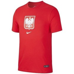 Clothing Men Short-sleeved t-shirts Nike Poland Tee Evergreen Crest Euro 2020 Red