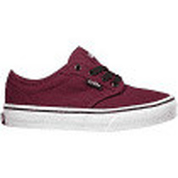 Shoes Children Low top trainers Vans YT Atwood Canvas Burgundy