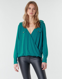 Clothing Women Tops / Blouses Marciano SALLY CREPE TOP Green