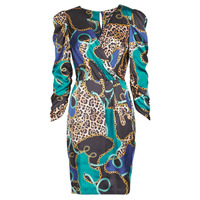 Clothing Women Short Dresses Marciano FOULARD SHORT DRESS Multicolour