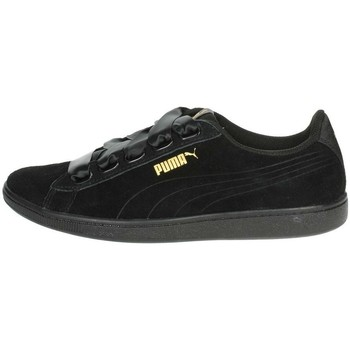 Shoes Women Low top trainers Puma Vikky Ribbon S Black