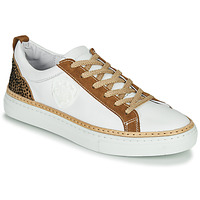 Shoes Women Low top trainers Philippe Morvan CORK V1 NAPPA BLANC White / Camel
