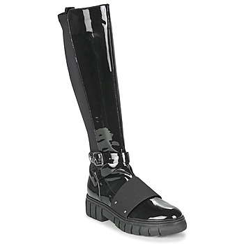 Shoes Women Mid boots Philippe Morvan DARMY V1 VERNIS NOIR Black