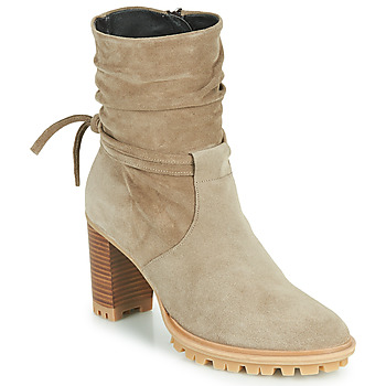 Shoes Women Ankle boots Philippe Morvan LEAST V5 VELOURS CAMEL Brown