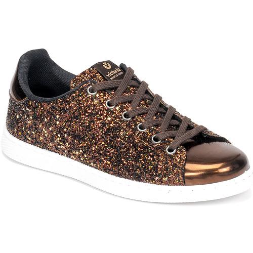 Shoes Women Low top trainers Victoria TENIS GLITTER Bronze