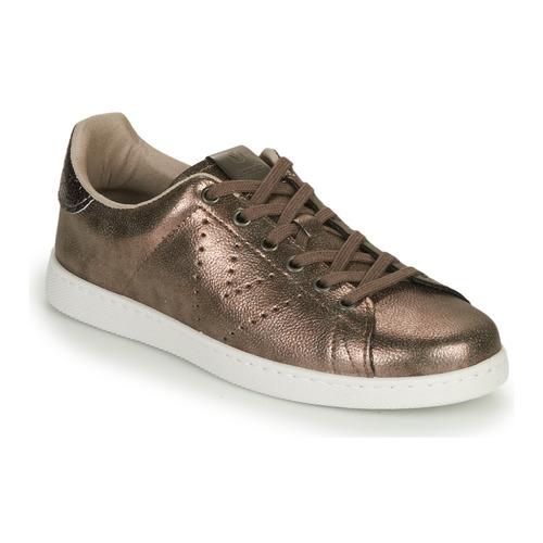 Shoes Women Low top trainers Victoria TENIS METALIZADO Grey