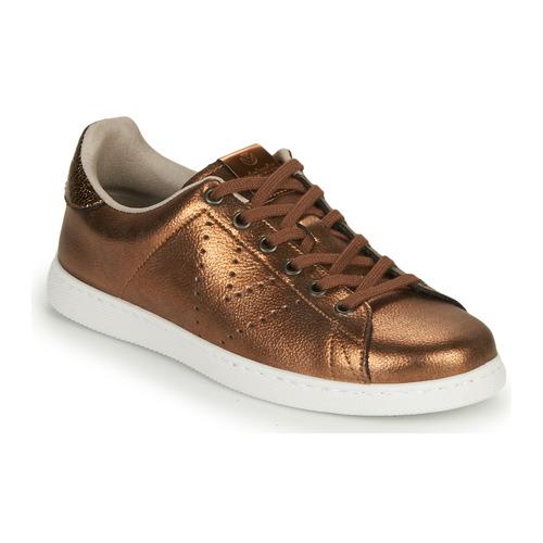 Shoes Women Low top trainers Victoria TENIS METALIZADO Bronze