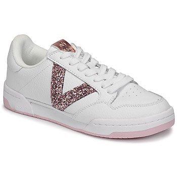 Shoes Women Low top trainers Victoria CRONO PIEL White / Pink