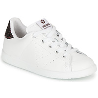 Shoes Girl Low top trainers Victoria TENIS PIEL White / Bordeaux