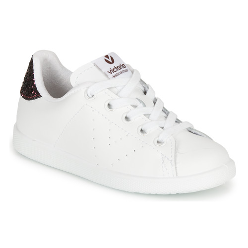 Shoes Girl Low top trainers Victoria TENIS PIEL White / Bordeaux