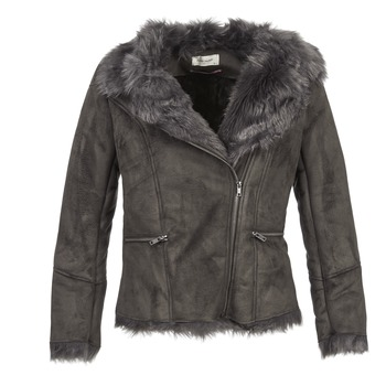 Clothing Women Leather jackets / Imitation leather Naf Naf BYBUE Brown
