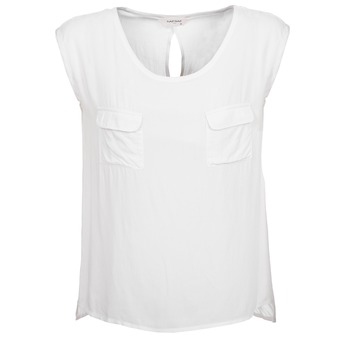 Clothing Women Tops / Sleeveless T-shirts Naf Naf KLOPA ECRU