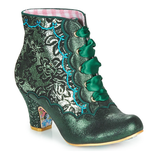 Shoes Women Ankle boots Irregular Choice Chinese Whispers Green