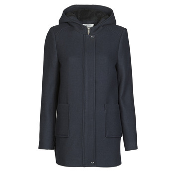 Clothing Women Coats Naf Naf AHOODY Blue / Marine