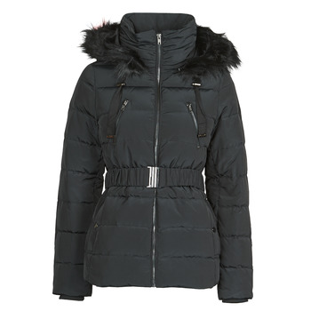 Clothing Women Parkas Naf Naf BU-CHOUPINOU COURT Black
