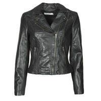Clothing Women Leather jackets / Imitation leather Naf Naf CAMILLA Black