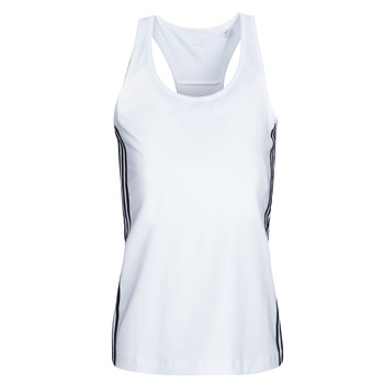 Clothing Women Tops / Sleeveless T-shirts adidas Performance W D2M 3S TANK White