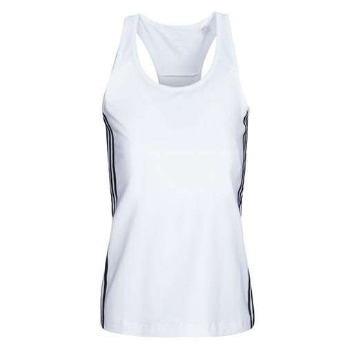 Clothing Women Tops / Sleeveless T-shirts adidas Performance W D2M 3S TANK White