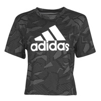 Clothing Women Short-sleeved t-shirts adidas Performance W E AOP T Black