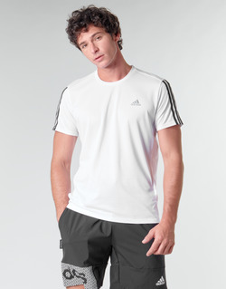 Clothing Men Short-sleeved t-shirts adidas Performance RUN IT TEE 3S M White