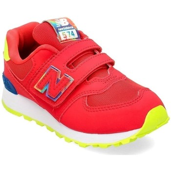 Shoes Children Low top trainers New Balance 574 Red,Yellow