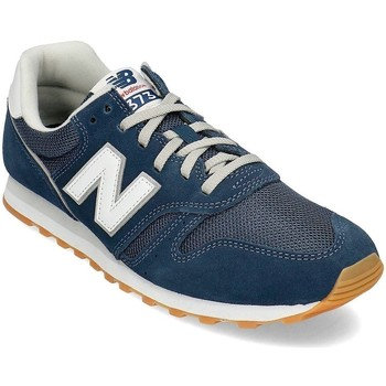 Shoes Men Low top trainers New Balance 373 White,Navy blue