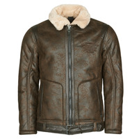 Clothing Men Leather jackets / Imitation leather Petrol Industries JACKET IMITATION SHEARLING Brown