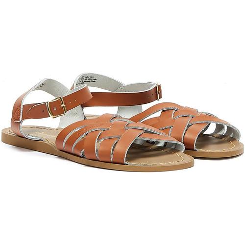 Shoes Women Sandals Salt Water Retro Womens Tan Sandals Tan