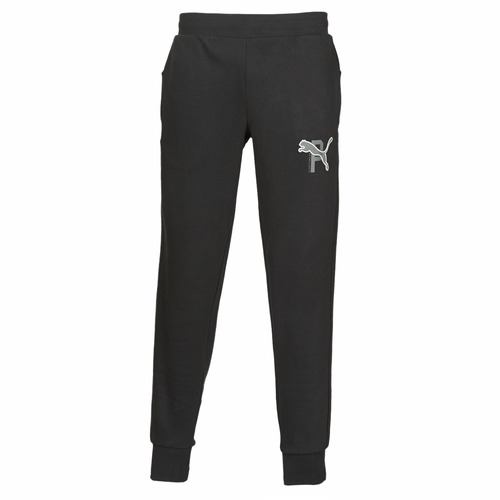Clothing Men Tracksuit bottoms Puma ATHLETICS PANTS FL CL Black