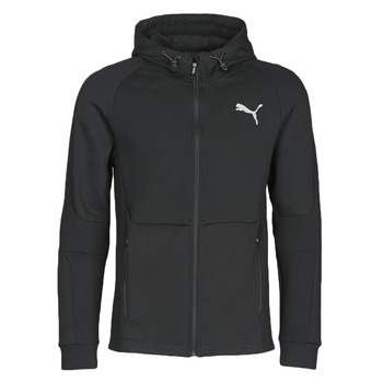 Clothing Men Track tops Puma EVOSTRIPE FZ HOODY Black