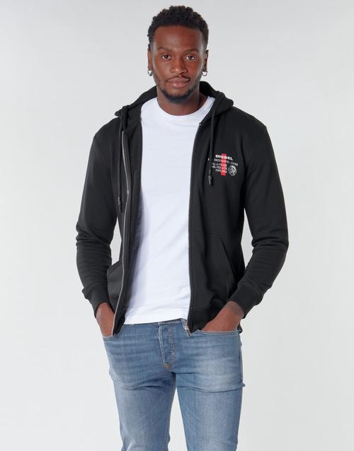 Clothing Men Sweaters Diesel BRANDON Black