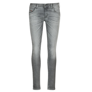 Clothing Women slim jeans Diesel SLANDY LOW Grey