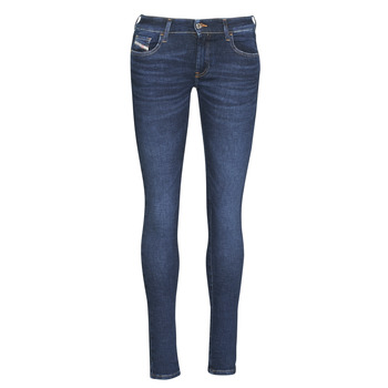 Clothing Women Skinny jeans Diesel SLANDY-LOW Blue / 069px
