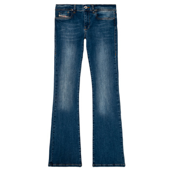 Clothing Girl Bootcut jeans Diesel LOWLEEH Blue