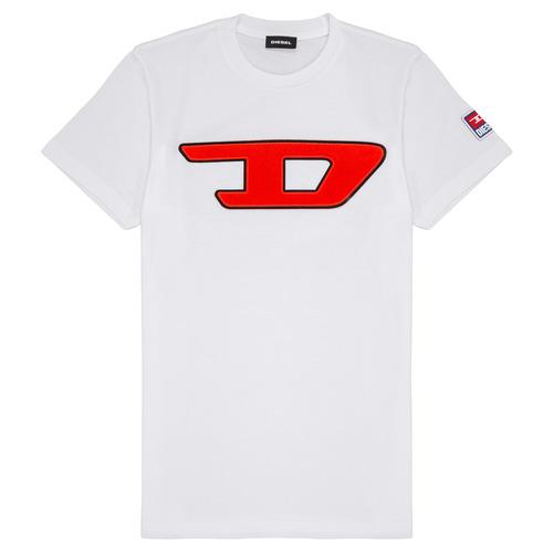 Clothing Children Short-sleeved t-shirts Diesel TJUSTDIVISION White