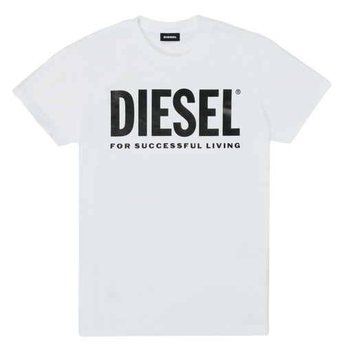 Clothing Children Short-sleeved t-shirts Diesel TJUSTLOGO White