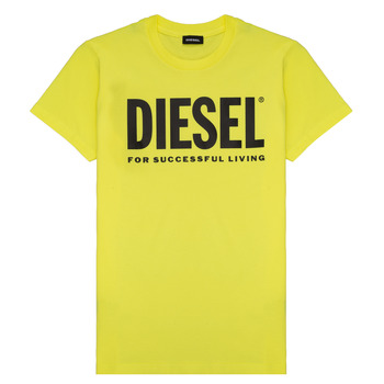 Clothing Children Short-sleeved t-shirts Diesel TJUSTLOGO Yellow